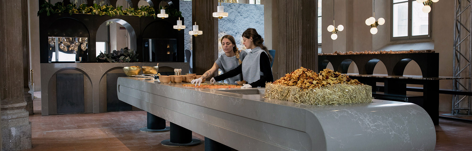 The Restaurant by Caesarstone & Tom Dixon at Salone del Mobile